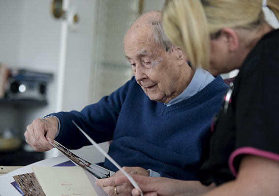 image of a man having respite care Red Rose Care