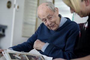 Elderly man image symbolising Red Rose Care services