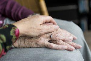 elderly hands symbolising domiciliary care in Preston